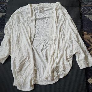 Loft white cardigan